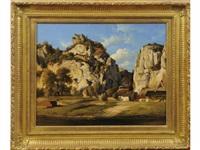 hameau près des falaises by jean charles joseph remond
