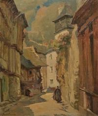 vieille rue animée by emile joseph jules simon