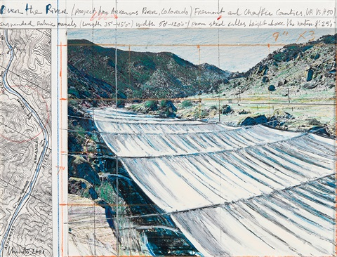 over the river (project for arkansas river, colorado) by christo and jeanne-claude