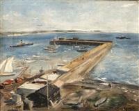 le port de granville by raymond jean legueult