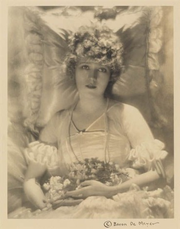 mary pickford in her wedding dress by adolph de meyer