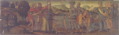 the meeting of abraham and melchizedek by raffaelino del garbo