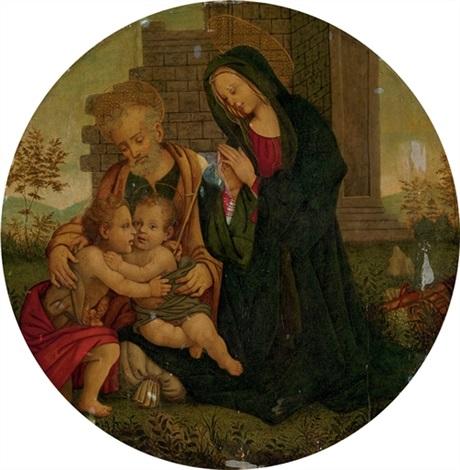 the holy family with the infant saint john the baptist by filippo filippino lippi