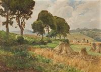 kornernte in der eifel by heinrich böhmer