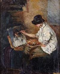 dans l'atelier by evgeni ivanovich samsonov