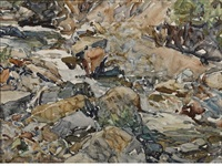 canyon creek, wyoming, behind studio by frank tenney johnson