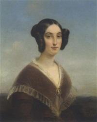 bildnis einer dame mit kamee by jules (jean-françois-hyacinthe) laure