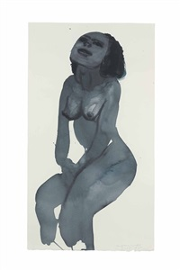 young pin-up girl by marlene dumas