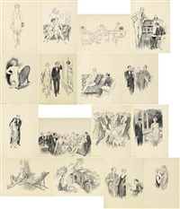 folio of unpublished novel illustrations by norman alfred williams lindsay