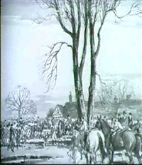 a meet in leicestershire a morning ride by ernest herbert whydale
