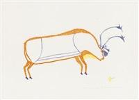 the fat caribou (1974 #32) by luke iksiktaaryuk