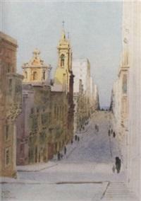 morning light, a valletta street, malta by nicholas krassnoff