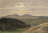 a landscape with lichnice by karel liebscher