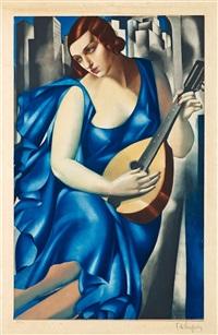 woman with mandoline (femme à la mandoline) by tamara de lempicka