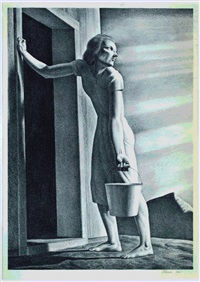 water carrier by rockwell kent