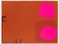 two magenta discs in dark reds: april 1970 by patrick heron