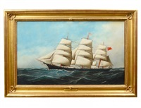 the clipper ship 'john mann' by antonio jacobsen