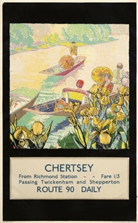 chertsey from richmond station (poster) by gregory brown