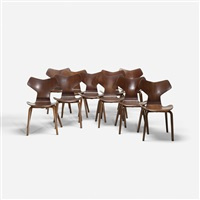 grand prix chairs (set of 10) by arne jacobsen