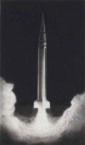 study for rocket launch by robert longo