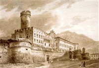 palazzo de buonconsiglio, trento by heinrich adam