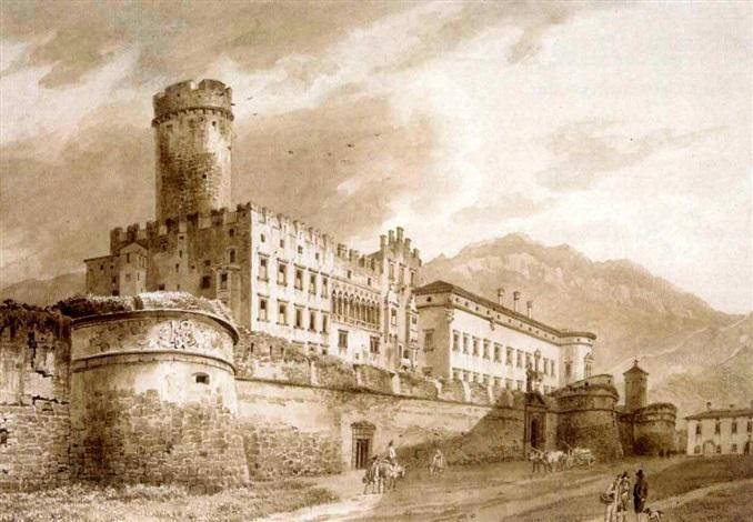 palazzo de buonconsiglio trento by heinrich adam