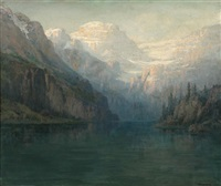 lake in mountain landscape by william franklin jackson