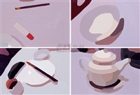 still life series (4 works) by qi peng