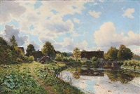 summer day at a farm by aksel frederiksen