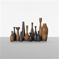 collection of twelve vases (12 works) by carl-harry stålhane