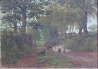 devonshire lane, near dawlish by nathaniel hughes john baird