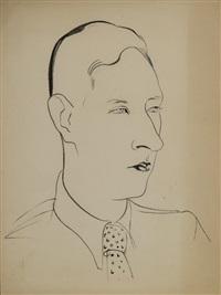 portrait of sergey yutkevich by nikolai pavlovich akimov