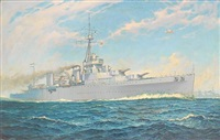 the argentinian training cruiser la argentina steaming at speed by william mcdowell