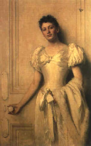 portrait of a young girl by john lockhart