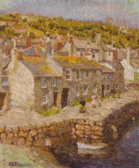 a view of mousehole, cornwall by mary duncan
