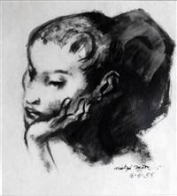 head of a girl (catalan cage birds) by michael ayrton