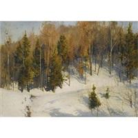 winter sun by andrei nikolaevich shilder