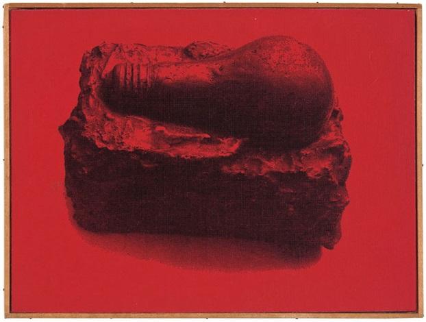 "jasper johns, ""light bulb"", 1958 (red, yellow, blue) by richard pettibone"