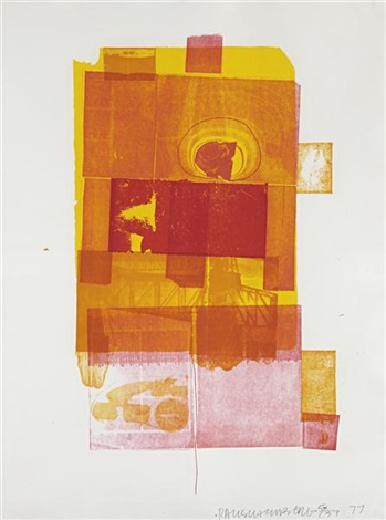 romances (pomegranate) (from romances series) by robert rauschenberg