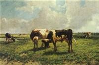 kühe auf der weide by bernard de haas