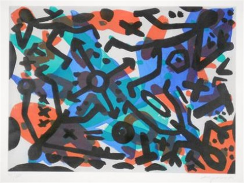 aus berlin suite blaurot by ar penck