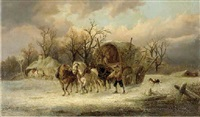 returning home in winter by harden sidney melville