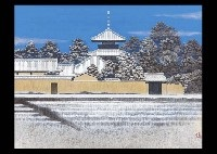 hokiji temple in the snow by naoki kadoshima