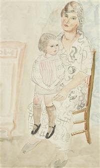 mère avec son enfant by jacques gotko