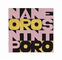 non parto non resto (i won't leave i won't stay) by alighiero boetti
