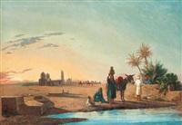 halte devant le tombeau des califes, le caire by lieutenant long