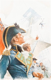 illustration for cs forester's hornblower (+ 6 others; 7 works) by kenneth wynn