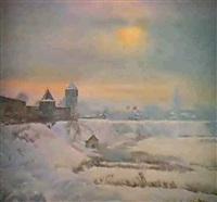 le paysage d'hiver by serguei matchekhine