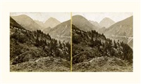 vues des pyrénées (11 stereoscopic views) by jean victor andrieux