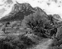 joven sobre burro camino de la masia by josep ariet